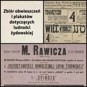 Zbiór obwieszczeń i plakatów dotyczących ludności żydowskiej