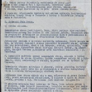 Sprawozdanie z wizytacji w obozie pracy w Pustkowie (k. Dębicy)
