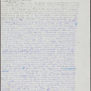 """List z obozu pracy w Zamościu do NN. w Warszawie (""""Dosłowny odpis urywka listu obozowicza do znajomej w Warszawie 28.10.1940 r."""")"""