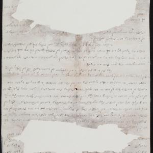 List rabina Eliezera z Iławy z 26.03.1942 r. do Menachema Mendla Kona z prośbą o pomoc za pośrednictwem Szymona Huberbanda