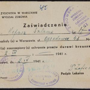 Materiały Chaskiela Wilczyńskiego - dokumenty administrowania domem przy ul. Ogrodowej 43