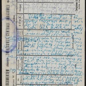 Notatki i list do Chaskiela Wilczyńskiego