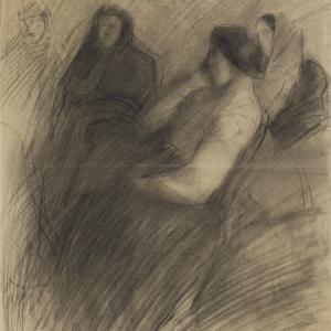 Siedzące kobiety