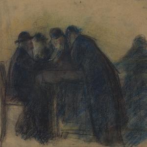 Grupa Żydów przy stole