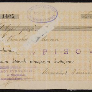 Materiały Eliasza Gutkowskiego - pokwitowania, asygnaty, karty przydziału